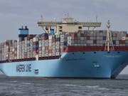 Ein Containerschiff der Reederei Maersk macht sich schon bald auf die Reise durch die Arktis. (Bild: KEYSTONE/EPA ANP/JERRY LAMPEN)