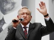 «Ohne Hilfe von Heer und Marine können wir das Sicherheitsproblem nicht lösen»: Mexikos künftiger Präsident Andres Manuel Lopez Obrador. (Bild: KEYSTONE/EPA EFE/JOSÉ MÉNDEZ)