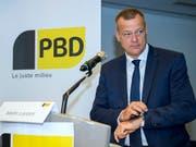 Höchste Zeit für eine fortschrittliche und vernünftige Politik: BDP-Präsident und Nationalrat (GL) an der Delegiertenversammlung in Genf. (Bild: KEYSTONE/MARTIAL TREZZINI)