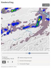 Bald wird es wieder nass. (Screenshot: Meteo Schweiz)