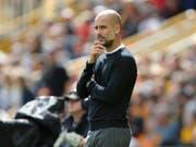 Kritischer Blick: Pep Guardiola beobachtet seine Spieler im Spiel gegen Aufsteiger Wolverhampton (Bild: KEYSTONE/AP/RUI VIEIRA)