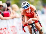 Triathletin Nicola Spirig ist auch in Montreal über die olympische Distanz schnell unterwegs (Bild: KEYSTONE/VALENTIN FLAURAUD)