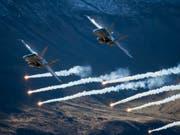 Schwierige Suche nach einem Nachfolgemodell für die F/A-18 der Schweizer Luftwaffe. Bild: Christian Merz/Keystone