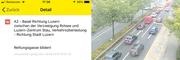 Der Mega-Event sorgt auf den Strassen in und um Luzern für Verkehrsbehinderungen. (Bild: Webcam)