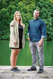 Melanie und Diego Schweizer, die neuen Veranstalter des Weihern-Festivals. (Bild: Beat Belser)