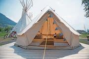 Auf dem Campingplatz Buochs gibt es auch Unterkünfte wie Safarizelte und Tipis. (Bild: Corinne Glanzmann (Buochs, 21. Juni 2017))