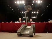 Modell eines unbemannten US-Kampfroboters. (Bild: KEYSTONE/AP/SUSAN WALSH)