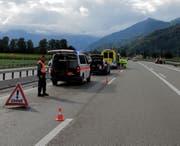 Die Kollision führte zu Verkehrsbehinderungen. (Bild: Kapo SG)