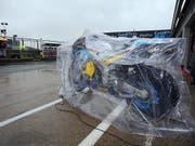 Tom Lüthis Motorrad blieb in Silverstone eingepackt - die Rennen fanden alle nicht statt (Bild: KEYSTONE/EPA/TIM KEETON)