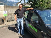 Roger Luzzani hat ein MyCarSharing-Auto in Seedorf stationiert. (Bild: PD, Seedorf, 17. August 2018)