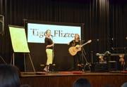 Zum Abschluss des Lesefestivals trat das Musik-Mal-Duo Tiger Flizzer auf. (Bild: Christoph Heer)