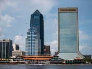 Das Einkaufs- und Vergnügungszentrum «The Landing» im Zentrum von Jacksonville - Schauplatz der Schiesserei. (Bild: KEYSTONE/FR171626 AP/LAURA HEALD)