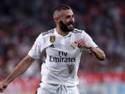 Doppel-Torschütze für Real: Karim Benzema (Bild: KEYSTONE/AP/ERIC ALONSO)