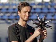 Daniil Medwedew gewann seinen zweiten ATP-Titel (Bild: KEYSTONE/AP/CHUCK BURTON)