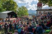 Das Chinderopenair Sarnen auf dem Landenberg zog zahlreiche kleine und grosse Besucher an. (Bild: Izedin Arnautovic (Sarnen, 26. August 2018))