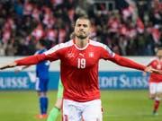 Eren Derdiyok empfiehlt sich mit seinen Auftritten bei Galatasaray Istanbul für eine Nomination für die Schweizer Nationalmannschaft (Bild: KEYSTONE/ANTHONY ANEX)