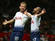 Harry Kane (links) und Lucas - die Torschützen Tottenhams beim Sieg gegen Manchester United (Bild: KEYSTONE/AP/DAVE THOMPSON)
