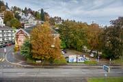 Areal am Platztor: Hier soll der neue Uni-Campus entstehen. (Bild: Urs Bucher)
