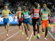 Kenias Kipyegon Bett (vorne) blieb in einer Dopingkontrolle mit EPO-Spuren hängen (Bild: KEYSTONE/AP/DAVID J. PHILLIP)