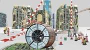 Arbeiter aus aller Welt bauen Hochhäuser: Filmstill aus Peter Aerschmanns «Babel» (2012). (Bild: PD)