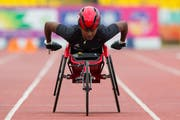Auf Medaillenjagd: Alexandra Helbling an der EM in Berlin. (Bild: Swiss Paralympic)