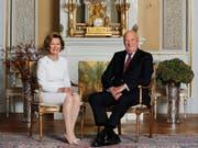 Norwegens Königin Sonja hat ihr restauriertes Elternhaus als Publikumsattraktion eröffnet. Es war einer der wenigen Orte, an welchem sie sich als Bürgerliche heimlich mit ihrem späteren Ehemann, dem Kronprinzen Harald, treffen konnte. (Bild: KEYSTONE/AP NTB scanpix/ASERUD, LISE)