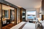 Blick aus einem Zimmer auf den Vierwaldstättersee (Bild: PD)