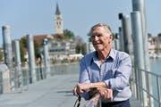 Zurück in der alten Heimat: Marcel Trost auf dem Anlegesteg der Schweizerischen Bodensee Schifffahrt in Romanshorn. (Bild: Donato Caspari)