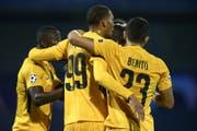Berner Jubel in Zagreb: YB ist in der Champions League. (Bild: Keystone)