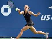 Für Kathinka von Deichmann endet das US Open in New York mit bitteren Tränen (Bild: KEYSTONE/EPA/COREY SIPKIN)