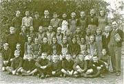 Schulklasse von Marcel Trost in Egnach Anfang der 1950er Jahre. (Bild: PD)