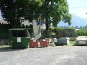 Die jetzige Sammelstelle beim Werkhof Frümsen sei ungenügend und schlecht zu bedienen. (Bild: PD)