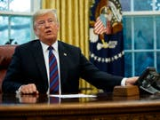 US-Präsident Donald Trump und Mexikos Präsident Enrique Peña Nieto haben ihre Streitigkeiten zum nordamerikanischen Freihandelsabkommen (Nafta) weitgehend beigelegt. (Bild: KEYSTONE/AP/EVAN VUCCI)