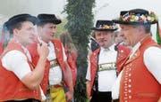 Appenzeller Landwirte und Sennen am «Bäklen». (Bild: Regina Kühne/KEY (Rehetobel, 25. September 2009))
