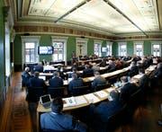 Die Mitglieder des Kantonsrates dürften einiges an Gesprächsstoff haben an der kommenden Sitzung. (Bild: Stefan Kaiser)