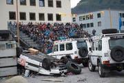 Tag der offenen Tür bei Swissint aus Anlass von 25 Jahren UNO-Einsätze. (Bild: Maria Schmid (Stans, 25. Oktober 2014))
