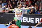 Der neue Star der Kadetten Schaffhausen: Ex-Bundesliga-Profi Zarko Sesum.Bild: Sippel-Eigner/Imago (Kassel, 17. Dezember 2017)