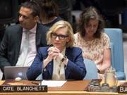 Hollywood-Star Cate Blanchett hat vor dem Uno-Sicherheitsrat zu mehr Engagement für die Rohingya-Flüchtlinge in Bangladesch aufgerufen. (Foto: Mary Altaffer/AP) (Bild: KEYSTONE/AP/MARY ALTAFFER)