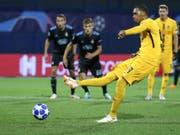 Guillaume Hoarau trifft mit diesem Penalty zum 1:1-Ausgleich in Zagreb (Bild: KEYSTONE/THOMAS HODEL)