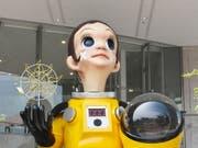 Die Gedenkstatue zur Atomkatastrophe in Fukushima mit dem Namen «Sonnenkind» sorgte für Streit. Jetzt soll sie wieder entfernt werden. (Bild: KEYSTONE/EPA JIJI PRESS)
