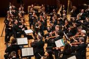 Das Luzerner Sinfonieorchester bei einem Auftritt im Konzertsaal des KKL Luzern. (Bild: Philipp Schmidli, 19. April 2018)