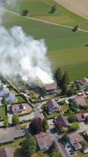Der Brandort aus der Luft (Bild: Jonas Bonderer)