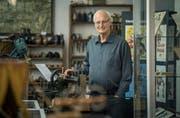 Amriswils Ehrenbürger Eugen Fahrni im Ortsmuseum, dessen Leiter er ist. Er wird zu Gast bei der IGEA sein. (Bild: Reto Martin, 20. September 2016)