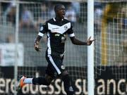 Treffsicher bei Lugano: Der Gambier Assan Ceesay wird zum FC Zürich wechseln (Bild: KEYSTONE/TI-PRESS/GABRIELE PUTZU)