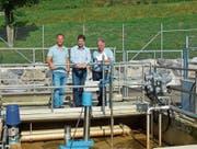 Experten für ARA-Fragen: Betriebsleiter Patrick Holderegger, Thomas Thym und Hansruedi Messmer. (Bild: Martin Schneider)