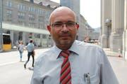 Sandro Näf, Teamleiter und Buschauffeur bei den VBSG. (Bild: Seraina Hess - 29. August 2018)