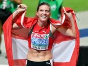 Tritt bei Weltklasse Zürich über 400 m Hürden als Europameisterin an: Lea Sprunger (Bild: KEYSTONE/WALTER BIERI)