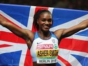 Wird im Letzigrund von den Afrikanerinnen gefordert: die dreifache Sprint-Europameisterin Dina Asher-Smith (Bild: KEYSTONE/EPA/SRDJAN SUKI)