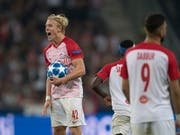 Salzburg's Xaver Schlager shouts his frustration (Image: KEYSTONE / EPA / ANDREAS SCHAAD)