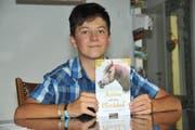 Jonas Odermatt (12) hat einen Kinderroman geschrieben. (Bild: Matthias Piazza (Ennetmoos, 24. August 2018))